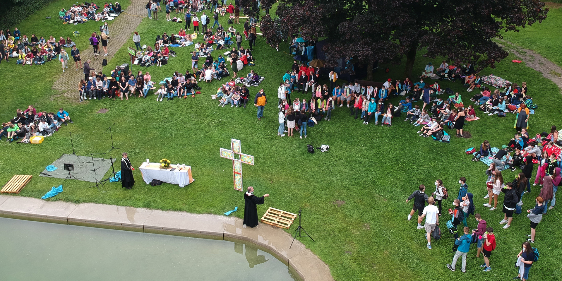 Konfi-Gottesdienst open air in Haunstetten